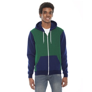 American Apparel Unisex Green and Blue Flex Fleece Hoodie