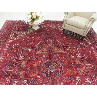 EORC Hand Knotted Wool Rust Heriz Rug (10' x 13'3)