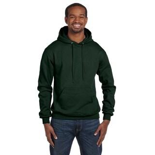 Men's Big and Tall Pullover Dark Green Hood Jacket