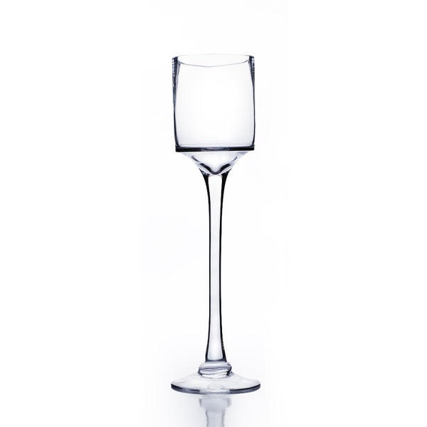 Shop Clear Glass 16 Inch Raised Cylinder Candle Holderwine Glass