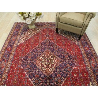 EORC Hand Knotted Wool Red Tabriz Rug ( 6'9 x 9'9)