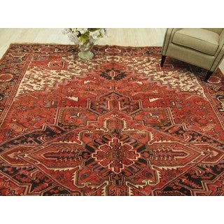 EORC Hand Knotted Wool Rust Heriz Rug ( 9'9 x 12'9)