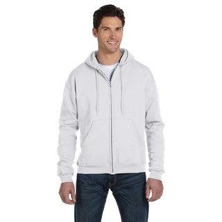 Men's Big and Tall Full-Zip Silver Grey Hood Jacket