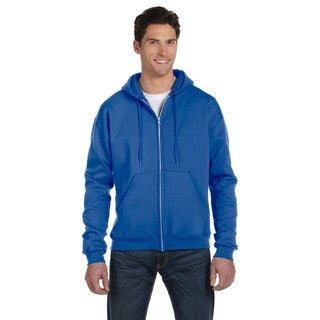 Men's Big and Tall Full-Zip Royal Blue Heather Hood Jacket