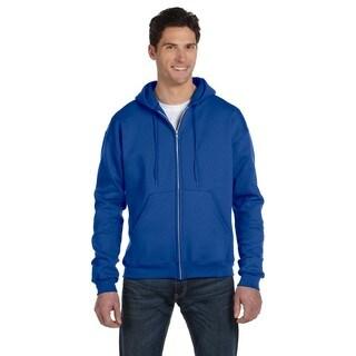 Men's Big and Tall Full-Zip Royal Blue Hood Jacket