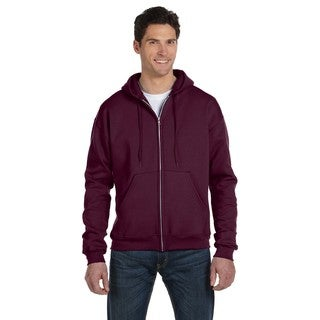 Men's Big and Tall Full-Zip Maroon Hood Jacket
