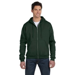 Men's Big and Tall Full-Zip Dark Green Hood Jacket