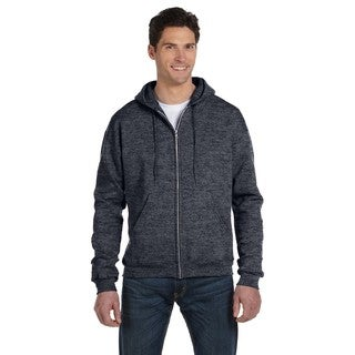 Men's Big and Tall Full-Zip Charcoal Heather Hood Jacket
