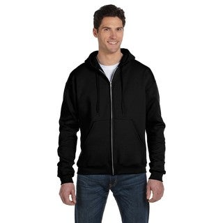 Men's Big and Tall Full-Zip Black Hood Jacket