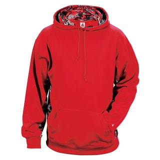 Digital Color Block Men's Big and Tall Performance Red/Red Digital Hoodie