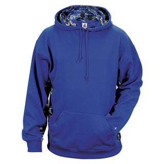 Digital Color Block Men's Big and Tall Performance Royal/Royal Digital Hoodie