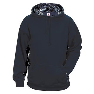Digital Color Block Men's Big and Tall Performance Navy/Navy Digital Hoodie