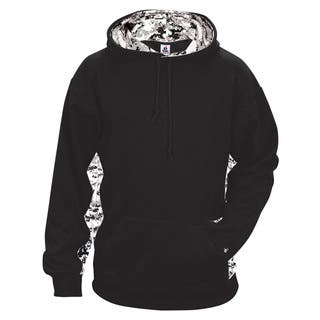 Digital Color Block Men's Big and Tall Performance Black/White Digital Hoodie|https://ak1.ostkcdn.com/images/products/12396119/P19217238.jpg?impolicy=medium