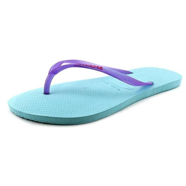 2904e2b48 Shop Havaianas Women s Slim Logo Pop-up Rubber Sandals - Free ...