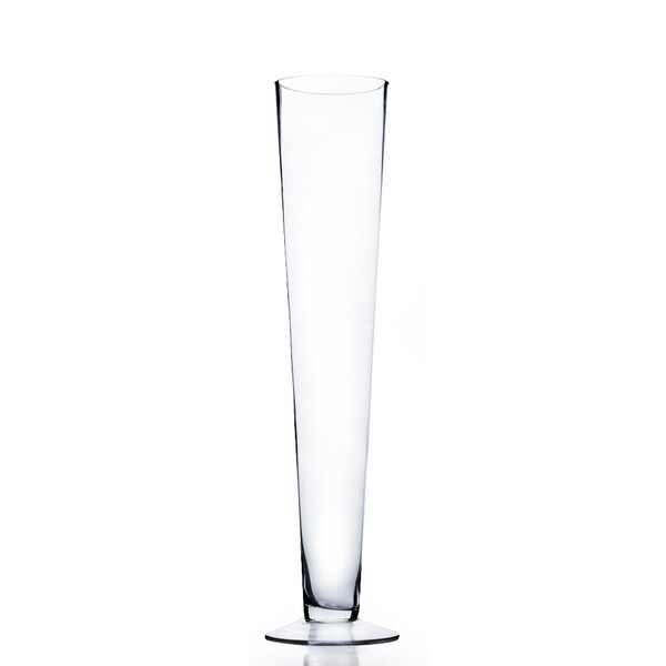 Shop 20 Inch Clear Pilsner Trumpet Glass Vase Free Shipping On