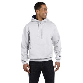 Men's Big and Tall Pullover White Heather/Sport Dark Navy Hooded Jacket
