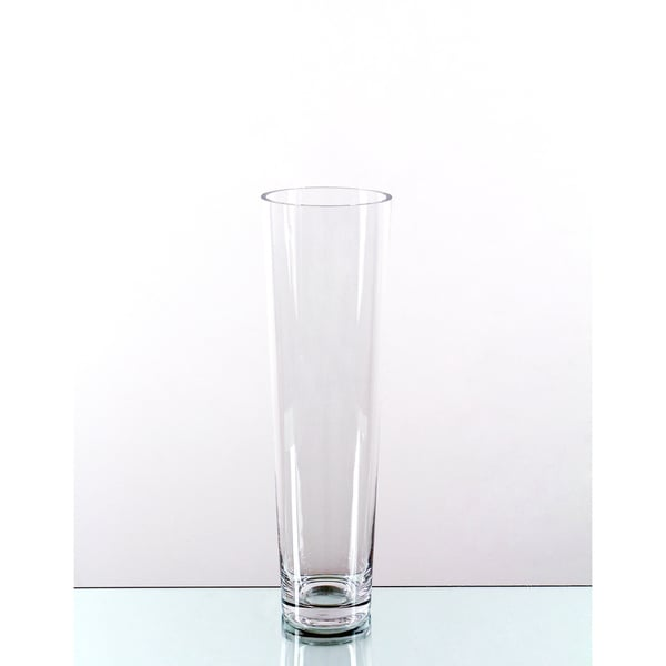 Shop Clear Taper Down 16 Inch Cylinder Vase Free Shipping On