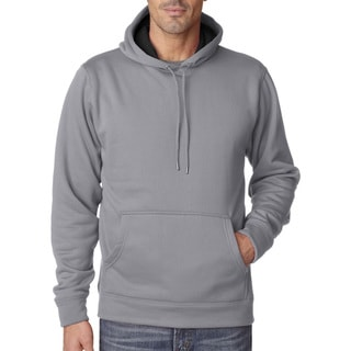 Cool and Dry Men's Big and Tall Sport Steel/Charcoal Hooded Fleece