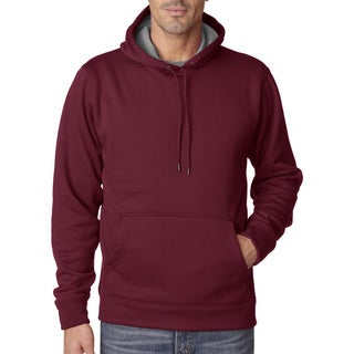 Cool and Dry Men's Big and Tall Sport Maroon/Charcoal Hooded Fleece