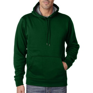 Cool and Dry Men's Big and Tall Sport Dark Green/Charcoal Hooded Fleece