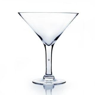 Clear Glass 10-inch Martini Glass Vase