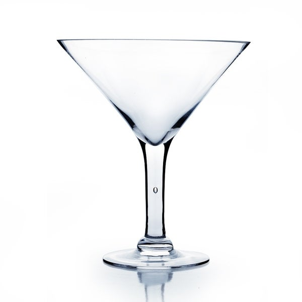 Shop Clear Glass 10 Inch Martini Glass Vase Free Shipping On