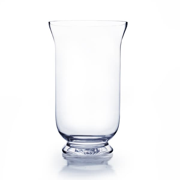 Shop Clear Glass 12 Inch Hurricane Vase Free Shipping On Orders