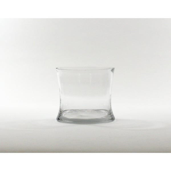 Shop 5 Inch Clear Short Hurricane Concaved Glass Vase Free