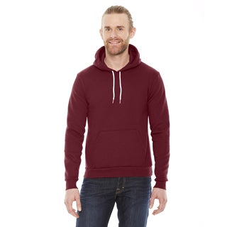 Unisex Flex Fleece Drop Shoulder Pullover Cranberry Hoodie