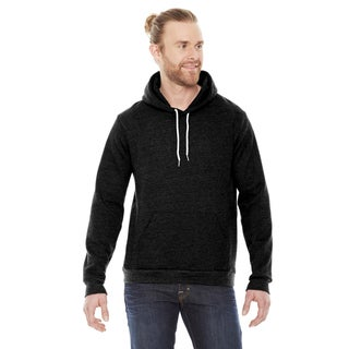 Unisex Flex Fleece Drop Shoulder Pullover Black Hoodie