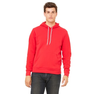 Unisex Big and Tall Poly-Cotton Fleece Pullover Red Hoodie