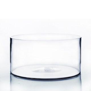 "12-inch x 6-inch Clear Cylinder Pan Vase - 12""w x 6""h"