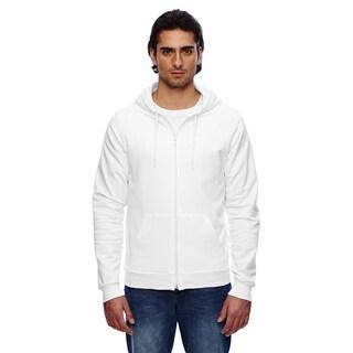 Unisex California Fleece Zip White Hoodie (XL)