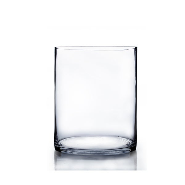 Shop Large 8 Inch X 12 Inch Clear Glass Cylinder Vase Free