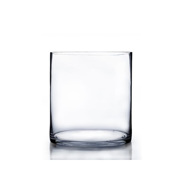 Clear Glass 8 Inch X 10 Inch Cylinder Vase Free Shipping