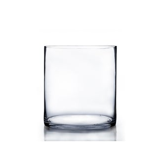 Clear Glass 8-inch x 10-inch Cylinder Vase