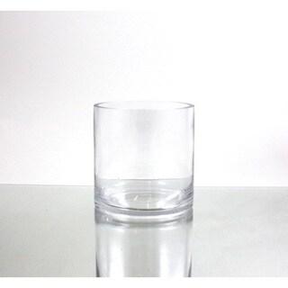 Clear Glass 8-inch x 8-inch Cylinder Vase