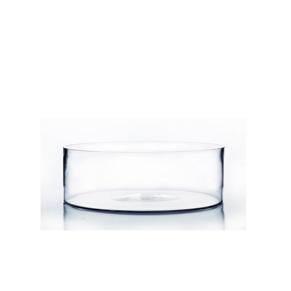 Clear Glass 8-inch x 4-inch Cylindrical Vase