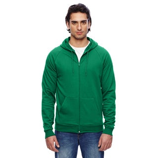 Unisex California Fleece Zip Kelly Green Hoodie
