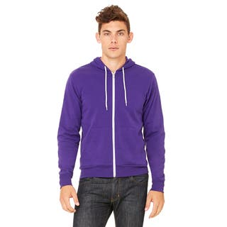 Unisex Big and Tall Poly-Cotton Fleece Full-Zip Team Purple Hoodie|https://ak1.ostkcdn.com/images/products/12396330/P19217325.jpg?impolicy=medium