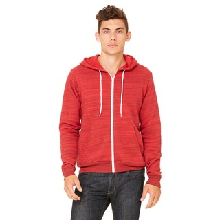 Unisex Big and Tall Poly-Cotton Fleece Full-Zip Red Marble Flc Hoodie