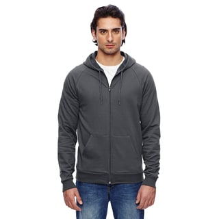 Unisex California Men's Fleece Zip Asphalt Hoodie
