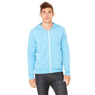 Unisex Big and Tall Poly-Cotton Fleece Full-Zip Neon Blue Hoodie (2XL)