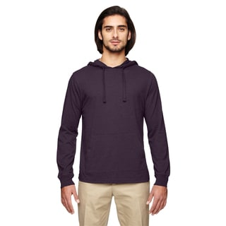 Men's Blended Eco Jersey Pullover Eggplant Hoodie