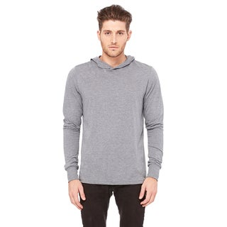 Unisex Big and Tall Jersey Long-Sleeve Grey Triblend Hoodie