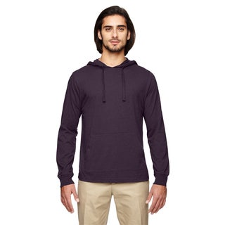 Men's Blended Eco Jersey Pullover Eggplant Hoodie (XS,XL)