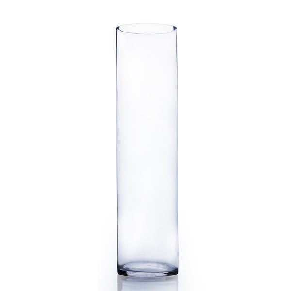 Clear Glass 6 Inch X 26 Inch Cylinder Vase Free Shipping