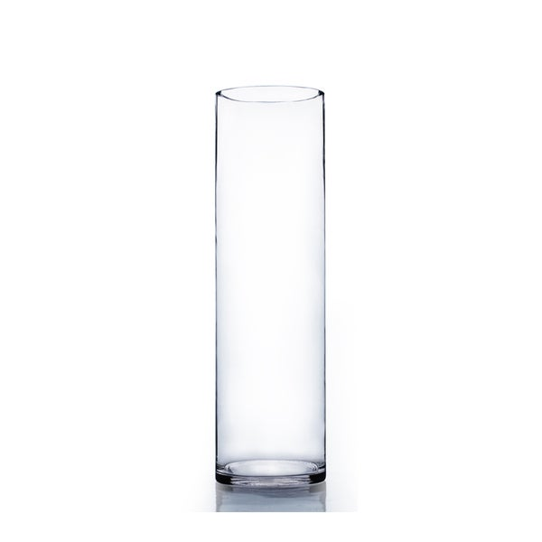 Clear Glass 6 Inch X 20 Inch Cylinder Vase Free Shipping