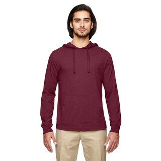 Men's Blended Eco Jersey Pullover Berry Hoodie (XS,XL)
