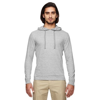 Men's Blended Eco Jersey Pullover Athletic Men's Grey Hoodie